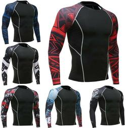 Mens Compression Shirt Thermal Base Layer Top Long-Sleeve Sp